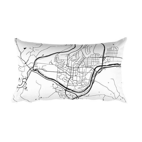 Athens Pillow, Athens Map, Athens Art, Athens OH, Athens Ohio, Athens Decor, Athens Cushion, Throw Pillow, Athens Gift. Map of Athens