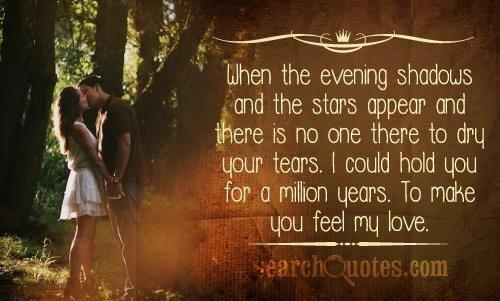 30 Love You Quotes For Your Loved Ones: When The Evening Shadows And The Stars Appear And There Is