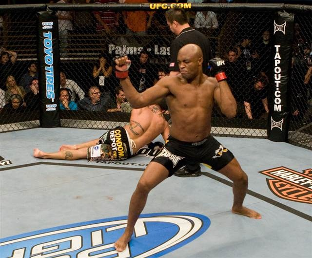Anderson Silva. Most title wins in a row in UFC history and still counting.