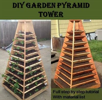 diy garden pyramid tower for more gardening ideas and tips contact your rapid city nursery