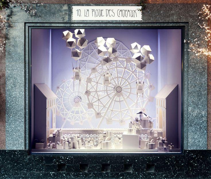 la roue des cadeaux vitrine de nol galeries lafayette 2016 - Galerie Lafayette Liste De Mariage Faire Un Cadeau