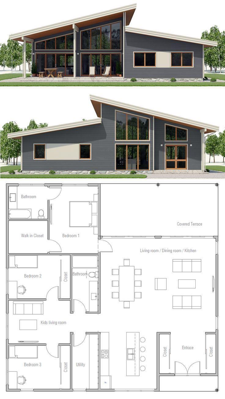 One Story 2 Bedroom House Plans 2020 Arsitektur Rumah Arsitektur Denah Rumah