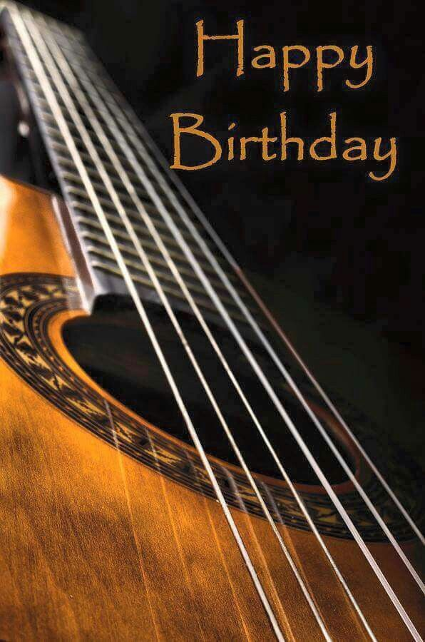 Happy birthday acoustic guitar