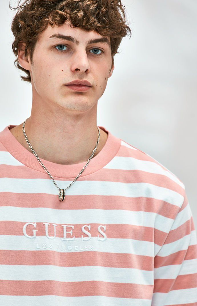 7369eb30e2 Guess Stream Stripe T-Shirt | PacSun | Wearables in 2019 | Shirts, T ...