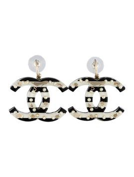 Chanel Earrings CC Logo Black White Striped Gold Lucky Symbols Pearls Resin Oversized Jumbo Dangling Drop 05A. Get the lowest price on Chanel Earrings CC Logo Black White Striped Gold Lucky Symbols Pearls Resin Oversized Jumbo Dangling Drop 05A and other fabulous designer clothing and accessories! Shop Tradesy now