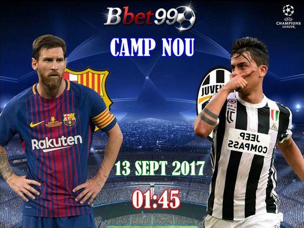 Champion League Barcelona VS Juventus Tanggal 13 September 2017 Jam 01:45 WIB.  Saksikan pertandingan serunya guys dan jangan lupa Daftar sekarang juga dan dapatkan bonus 100% FOLLOW => @BBET99.ID LIVECHAT : BBET99.COM BBM : D86BEE8B LINE : ID.BBET99