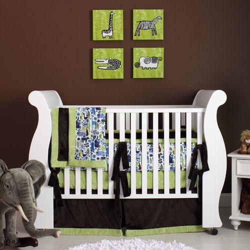 Baby Boy Nursery!: Baby Boys Nurseries, Baby Beds, Chocolates Brown, Cribs, Brown Wall, Baby Rooms, Safari Baby, Green Nurseries, Baby Nurseries