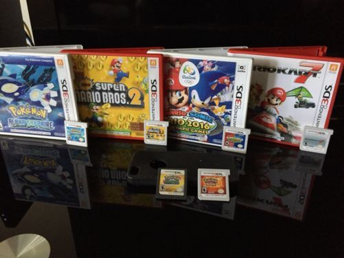 Nintendo 3DS Bundle Pokémon alpha sapphire, super Mario 2, Mario: $100.00 (0 Bids) End Date: Friday Feb-23-2018 19:49:43 PST Bid now | Add…