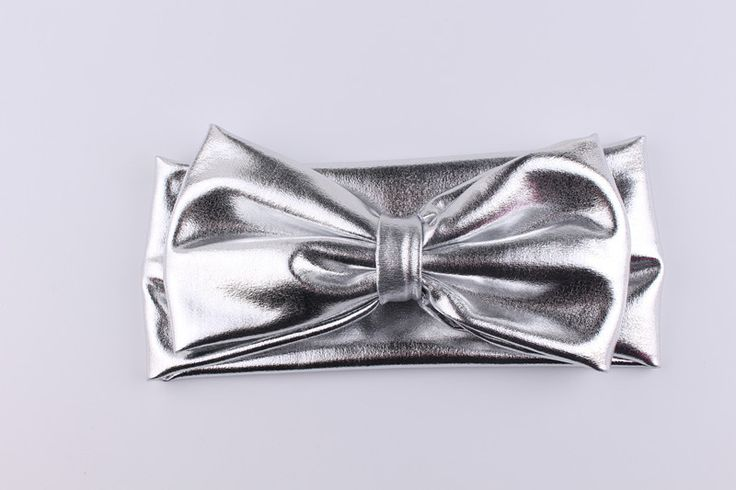 New Fashion Cute Boutique Handmade Solid Leather Bunny Ear Headbands Hair Bow For Baby Kids Hair Accessories Headwear