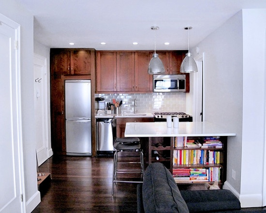 17 best images about small and narrow kitchen space on pinterest open kitchen shelving small - Kitchen design brooklyn ...