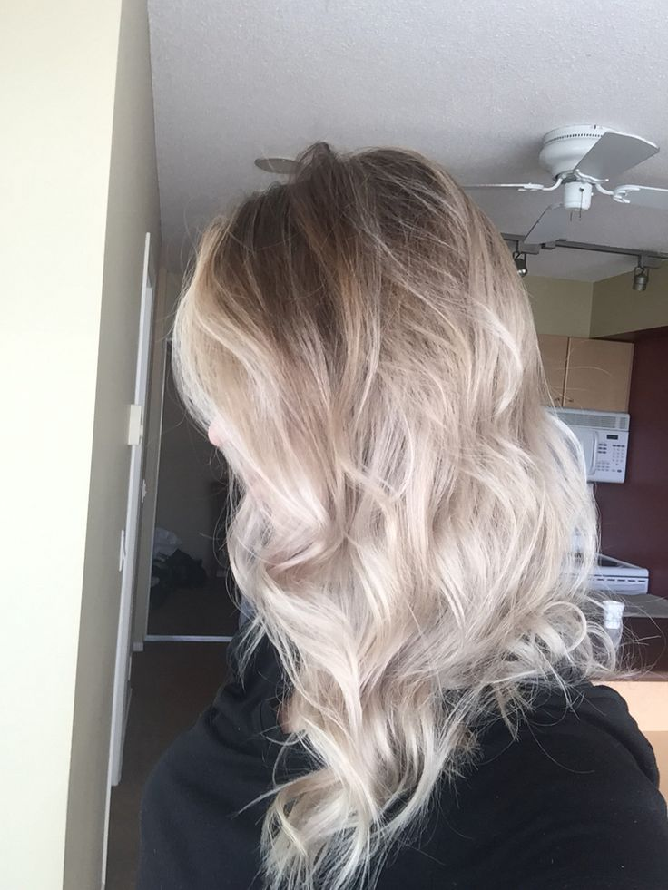 Platinum Blonde Ombre on Pinterest - Silver blonde hair, Balayage hair ...
