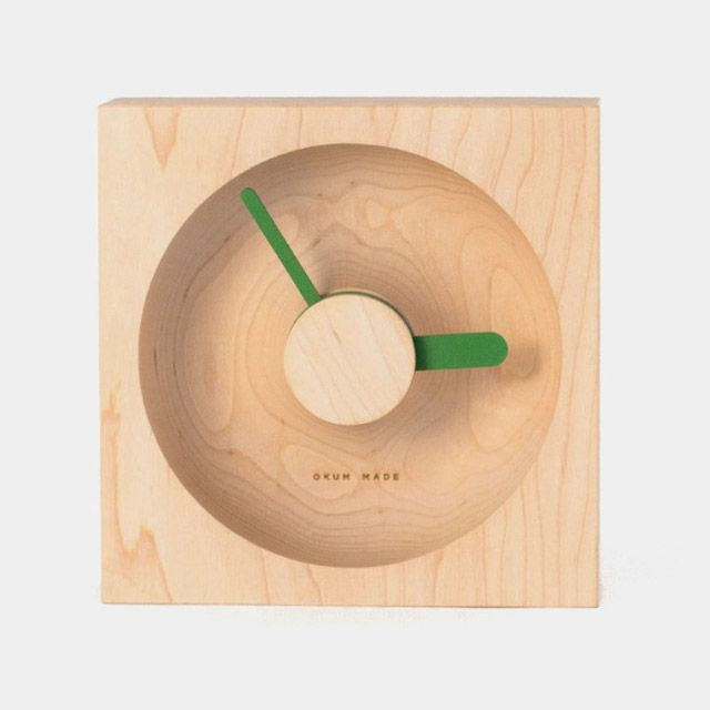 Designers David Okum and Javier Palomares joined together earlier this year to form a little design studio called Okum Made. The duo are releasing a number of functional home objects made of wood and other materials including this new series of clocks called O'Clock. There are currently four differe