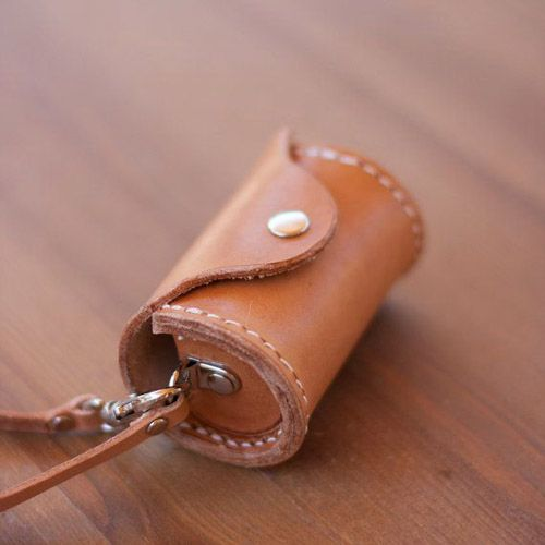 Leather Dog Poop Bag Dispenserby HanaAzuki + 13 other awesome handmade dog products and DIY ideas
