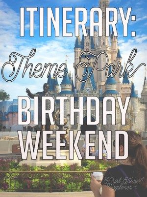 Theme park birthday weekend: no better way to celebrate/ mourn getting older than by realizing your childhood dreams at Disneyworld/ Universal.
