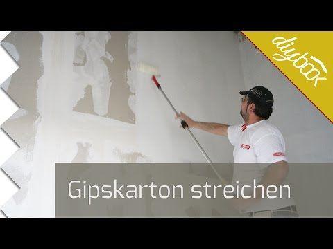 Great Gipskarton streichen Trockenbaufarbe im Einsatz