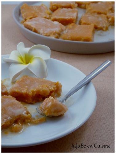 1 belle patate douce Fécule de manioc (1 dose pour 2 doses de purée de patate douce) du sucre (à doser selon vos goûts) du lait de coco (à doser selon quantité de patate douce)
