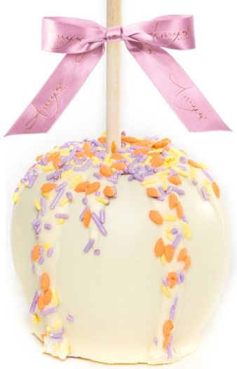 51 best spring easter gifts images on pinterest belgian what a unique easter treat theyll enjoy this duo of easter white chocolate gourmet caramel apples accented with colorful sprinkles negle Images