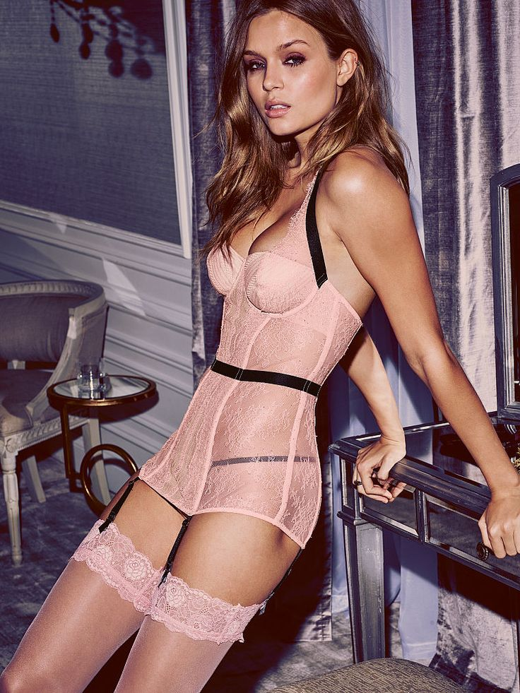 So classic. Like, in the best possible way, with stunning lace, sheer mesh and lots of sultry curves. | Victoria's Secret Lace Halter Merrywidow
