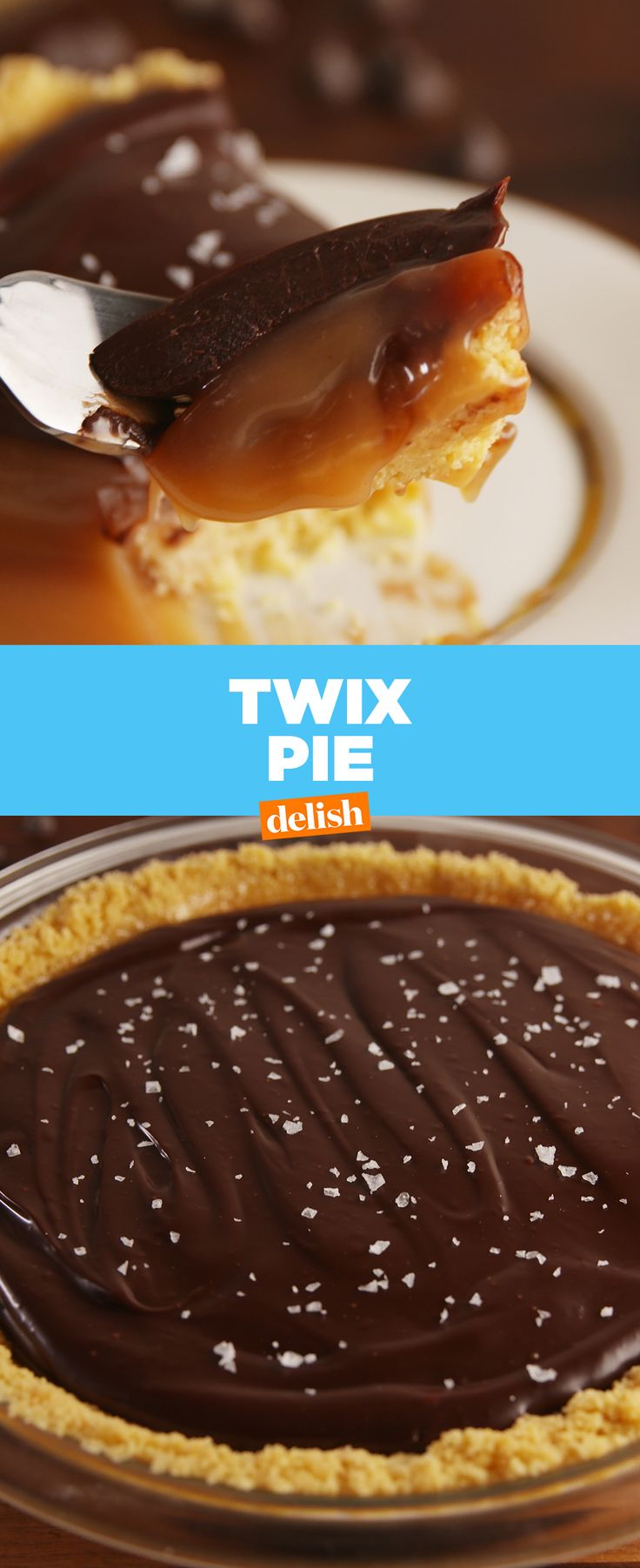 You've never eaten Twix like this before. #candy #candybar #twix #pie #chocolate #baking #recipes #easyrecipes #caramel