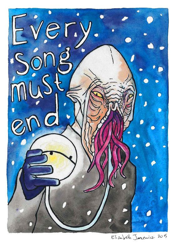 The Ood Doctor Who Watercolor Original Art by ElizabethJJancewicz