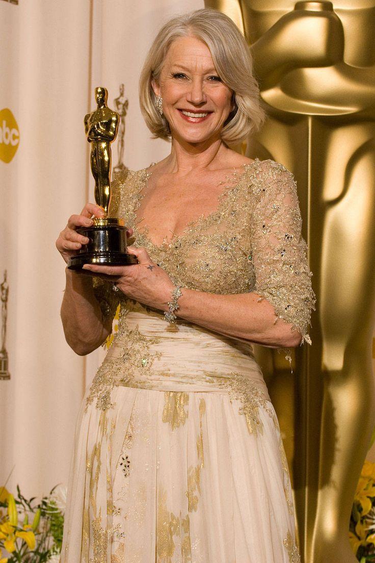 """Helen Mirren wins the Best Actress Oscar for her portrayal of Queen Elizabeth II in """"The Queen."""""""