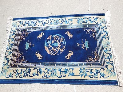 Lovely Nichols Chinese Or Fette Art Deco Rug Great Size Beautiful Blue
