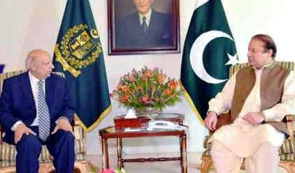 Governor Punjab meets PM Nawaz |