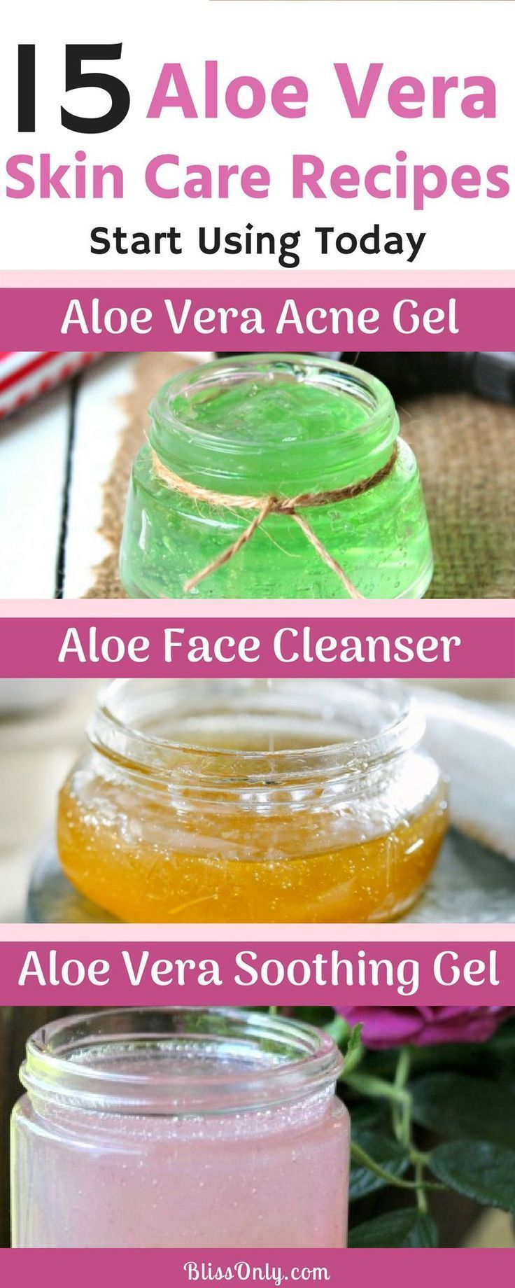 Try these 15 aloe vera gel for skin care and get your acne, scars, dark spots an...  -  Hautpflege-Rezepte