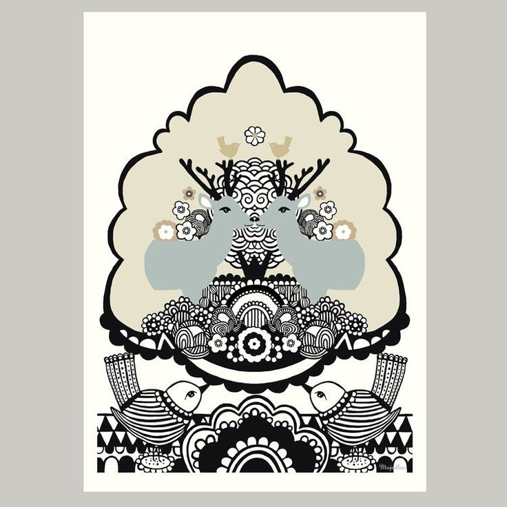 Majvillan ~ Monogram poster 50x70 cm - SovrumsShoppen.se