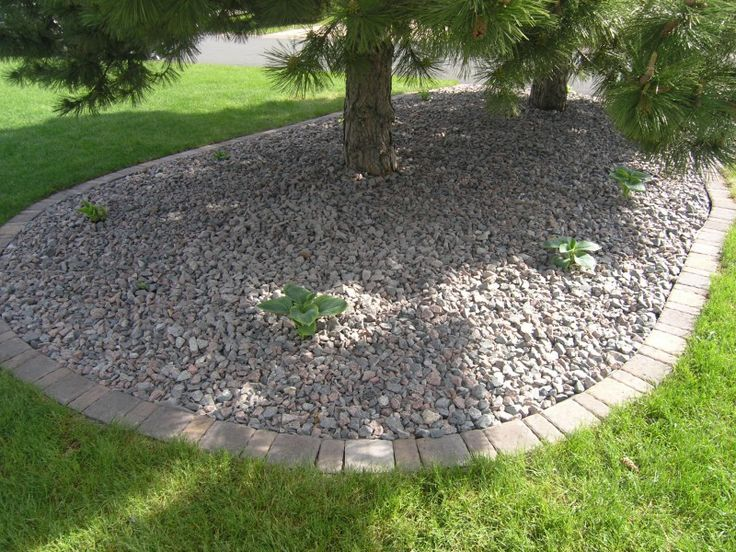 Landscape Edging Granite : Landscaping easy mowing cobblestone edging granite landscape