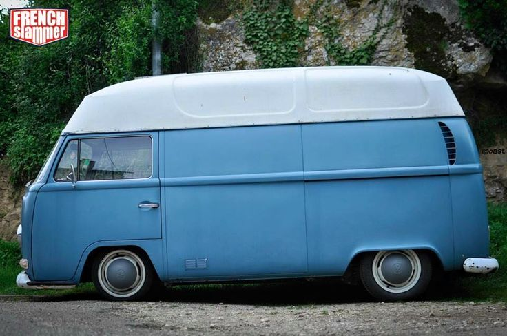 highroof bleu volkswagen