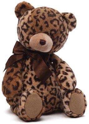 Jayme Leopard Print Teddy Bear