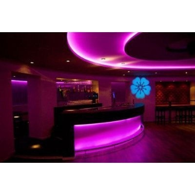 This LED color changing strip is probably the coolest  most jaw dropping  thing we ve ever seen  Upgrade My Bar   Man Cave   Bachelor Pad   Unique  Lighting  82 best LED Lighting in Bars and Restaurants images on Pinterest  . Lounge Lighting. Home Design Ideas