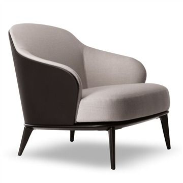 Minotti Leslie Armchair - Style # LESP78xx, Modern Armchair - Contemporary Armchair - Leather Armchair - Swivel Armchair | SwitchModern.com