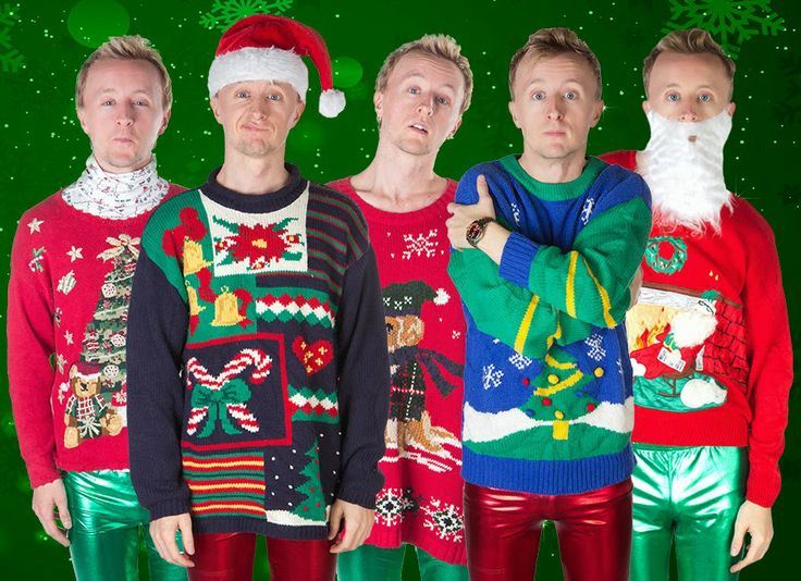 Actor Paul Cram in Ugly Christmas Sweaters