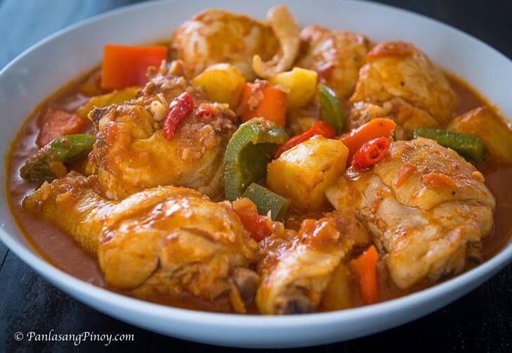 Chicken Caldereta Panlasang Pinoy Recipe In 2020 Caldereta Recipe Chicken Spicy Recipes Caldereta Recipe