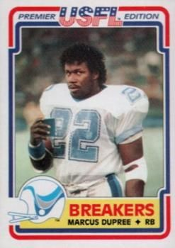 1984 Topps USFL #76 Marcus DuPree Front