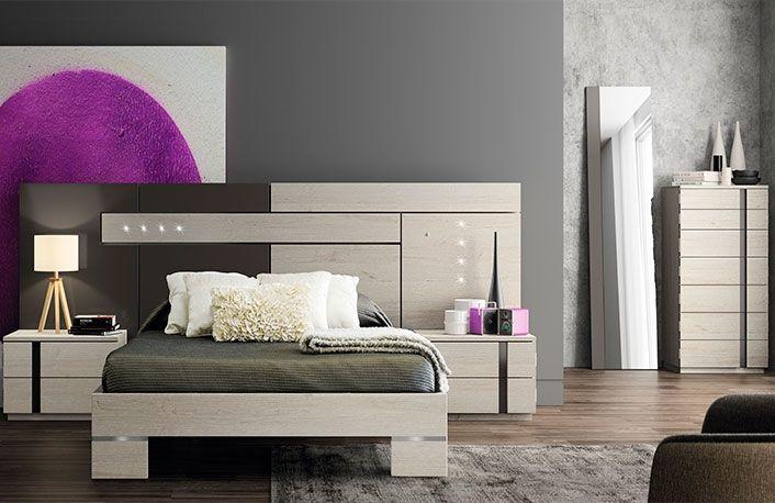 Dormitorio moderno con sinfonier nordico vison