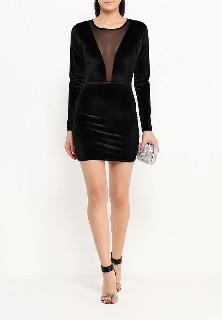 Дешевое бархатное платье чёрного цвета с полупрозрачной вставкой на груди до талии! Ссылка на карточку товара — http://fas.st/R4JHe