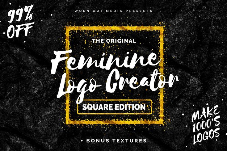 Feminine Logo Creator Square Edition by Mats-Peter Forss on @creativemarket