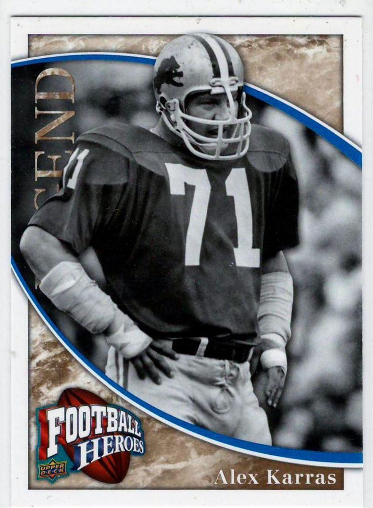 2009 UD Football Heroes Legend Alex Karras # 279 - Football Trading Cards