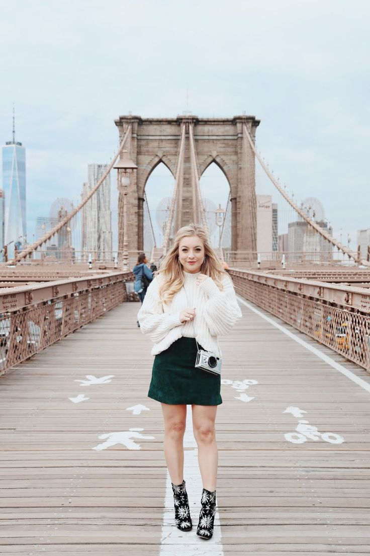 Chunky knit + mini skirt + booties!