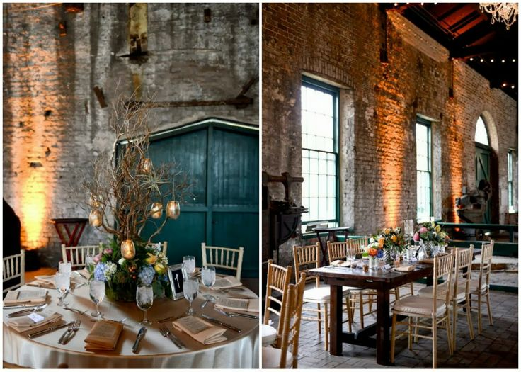 gorgeous industrial reception setting the roundhouse savannah ga savannahwedding small intimate weddingwedding venueswedding