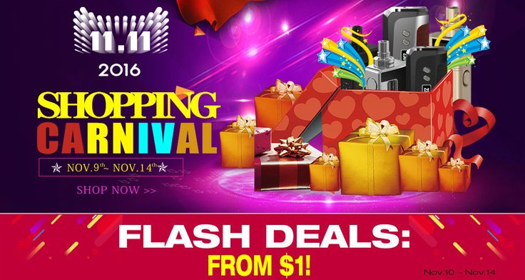 11.11 Shopping Carnival Flash Deals, from Cigabuy