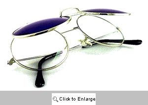 Flip-Top Round Sunnies Sunglasses - 298B