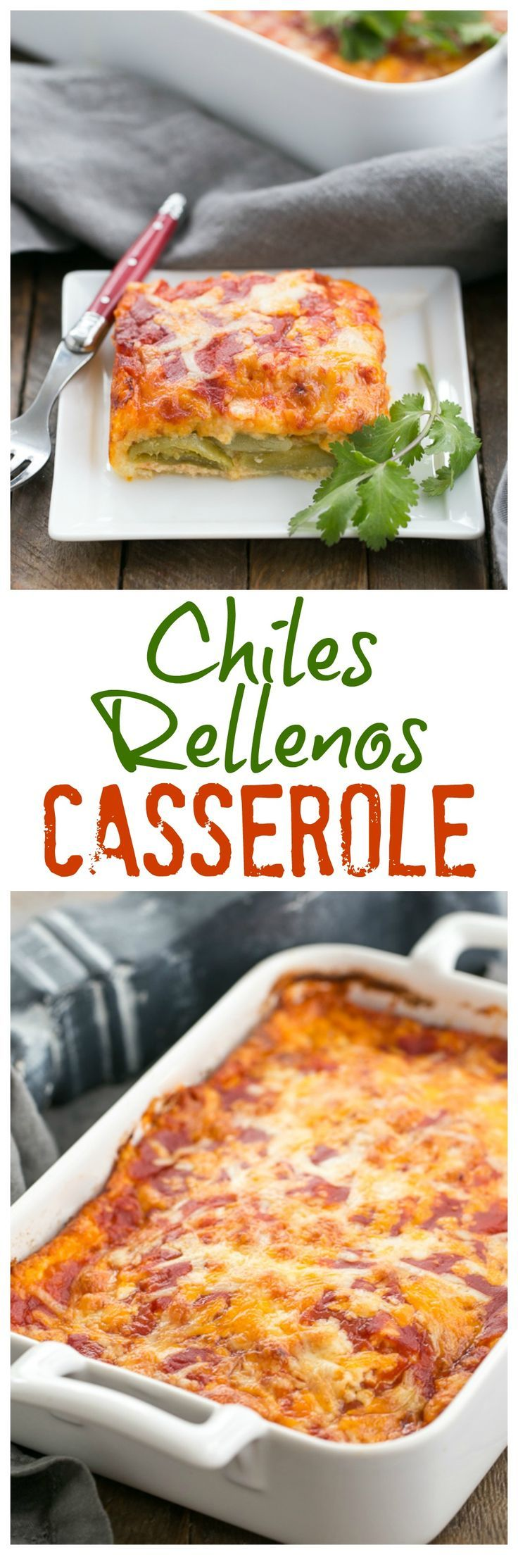 Chiles Rellenos Casserole | A super easy version of the classic Tex-Mex dish @lizzydo