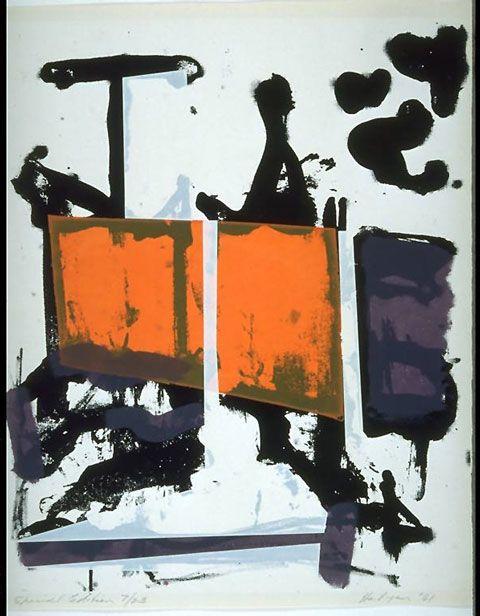 """Grace Hartigan (1922-2008) Hartigan was onderdeel van de New York School, van kunstenaars en schilders die ontstond in New York tijdens de jaren 1940 en '50. Ze werd vaak gezien als een """"tweede generatie abstracte expressionist """", wordt sterk beïnvloed door haar collega's van de tijd."""