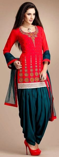 Patiala Salwar Kurta Women Dresses 2014 for Punjabi Patiala Suits (7)