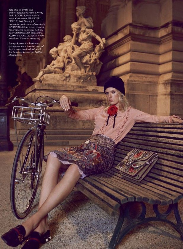 cool Charlene Hogger takes Paris in haute couture for Elle US January 2016 by David Burton   Haute couture Check more at http://pinfashion.top/pin/64922/