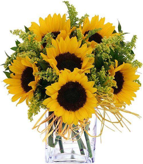 fall floral arrangements ideas for weddings | Fall flower arrangements with sunflowers